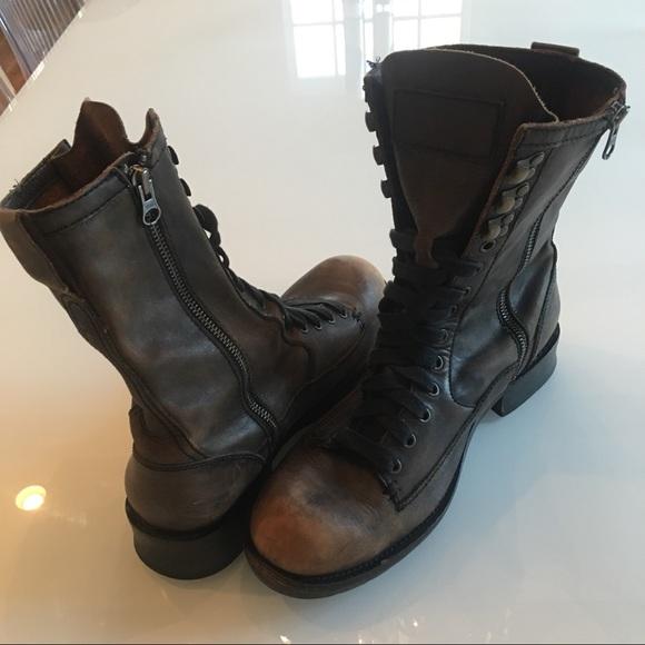 41dc535f1c2859 John Varvatos Other - John Varvatos Star B Brown Leather Lace Up Boots